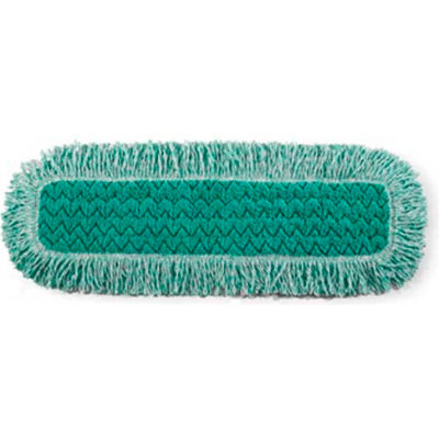 """Rubbermaid® HYGEN 24"""" x 9"""" Microfiber Dust Mop W/ Fringe, Green - RCPQ42600GR00"""