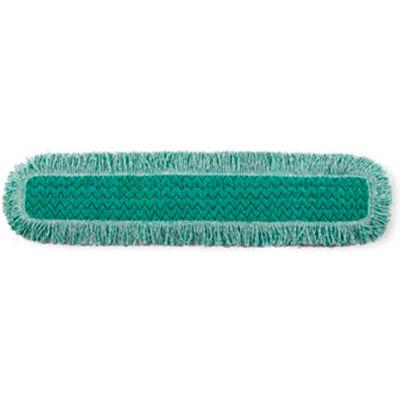 """Rubbermaid® HYGEN 36"""" Microfiber Dust Mop Head W/ Fringe, Green 1 Mop/Pack - RCPQ438"""