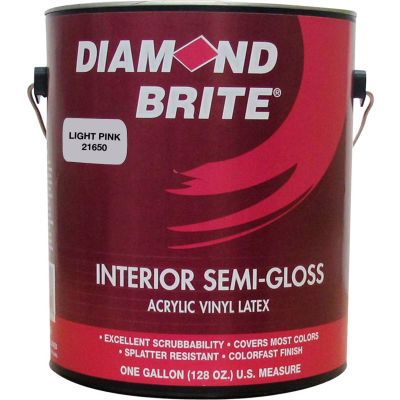 Diamond Brite Interior Semi-Gloss Paint, Pretty Pink Gallon Pail 1/Case - 21650-1