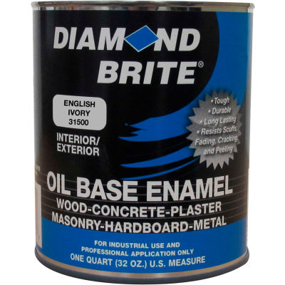 Diamond Brite Oil Enamel Paint, English Ivory 32 Oz. Pail 1/Case - 31500-4