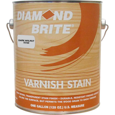 Diamond Brite Oil Varnish Stain Paint, Dark Walnut Gallon Pail 1/Case - 70100-1