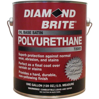 Diamond Brite Oil Satin Polyurethane Paint, Gallon Pail 1/Case - 72000-1