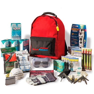 Ready America® Grab 'N Go 3 Day Deluxe Emergency Kit, 70385, 4 Person Backpack