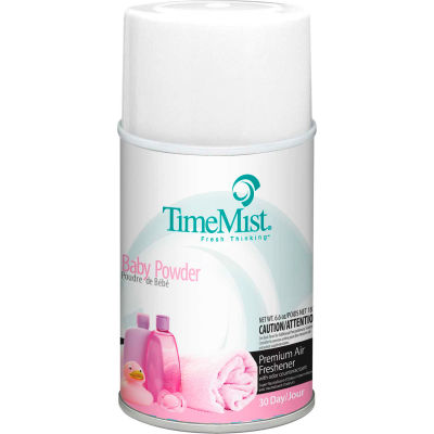 TimeMist® Premium Metered Air Care Refills, Baby Powder - 6.6 oz. Can, 12 Cans/Case - 1042686