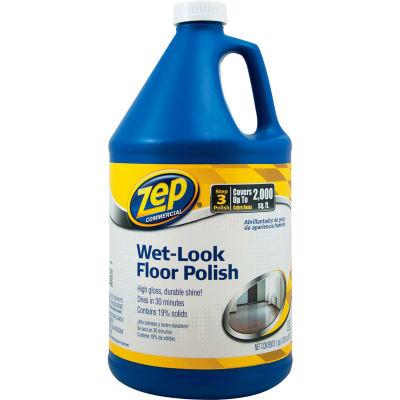 Zep® Wet-Look Floor Finish, Gallon Bottle, 4 Bottles - ZUWLFF128
