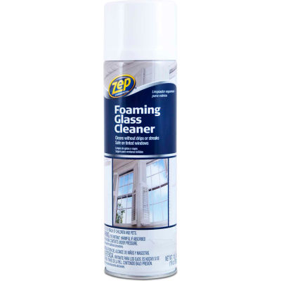 Zep® Foaming Glass Cleaner, 19 oz. Aerosol Can, 12 Cans - ZUFGC19
