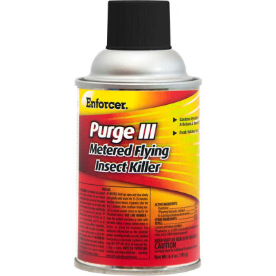 Enforcer® Purge III Metered Flying Insect Killer, 6.4 oz. Aerosol Spray, 12 Cans - EPRGFIK7