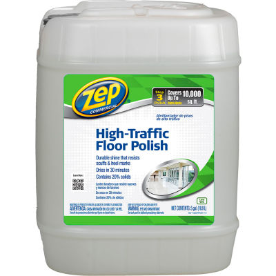 Zep® High-Traffic Floor Finish, 5 Gallon Pail - ZUHTFF5G