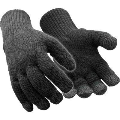 RefrigiWear Thermal Touchscreen Gloves, Black, S/M, 1 Pair