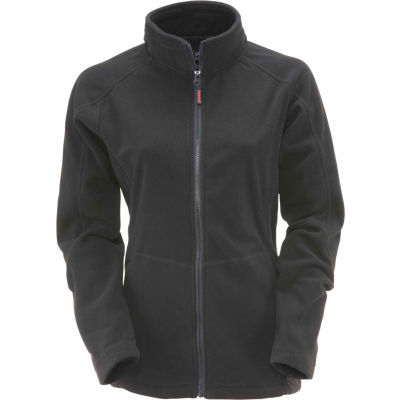 RefrigiWear Women's Fleece Jacket, Black, 30°F Comfort Rating, L