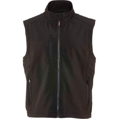 RefrigiWear Softshell Vest, Black, 20°F Comfort Rating, 4XL