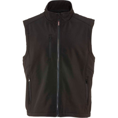 RefrigiWear Softshell Vest, Black, 20°F Comfort Rating, XL