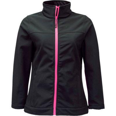 RefrigiWear Women's Softshell Jacket, Black, 20°F Comfort Rating, 4XL