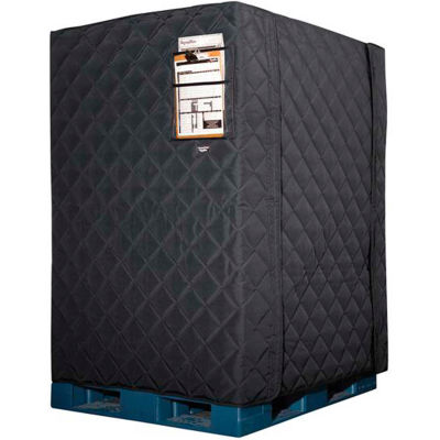 """RefrigiWear RW Protect Insulated Pallet Cover 150PCBLK36P Black - 48"""" x 40"""" x 36"""""""