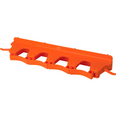 Vikan 10187 Wall Bracket for 4-6 Tools, Orange
