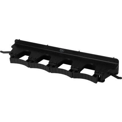 Vikan 10189 Wall Bracket for 4-6 Tools, Black