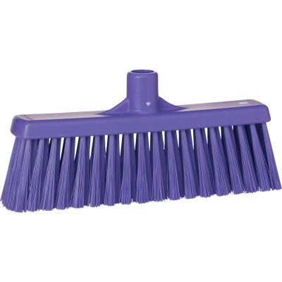 """Vikan 31668 12"""" Upright Broom- Medium, Purple"""
