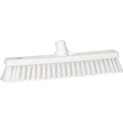 "Vikan 31745 16"" Combo Push Broom- Soft/Stiff, White"