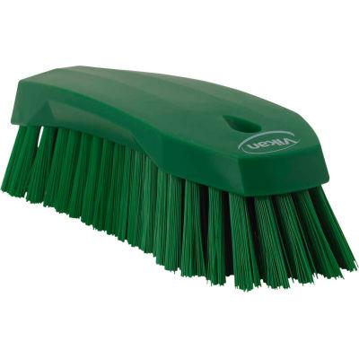 Vikan 38902 Large Hand Brush- Stiff, Green