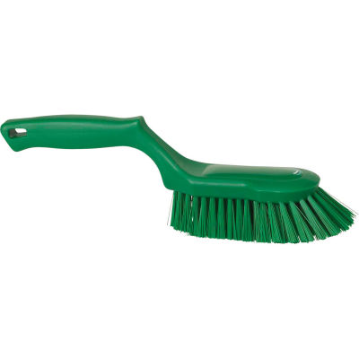 Vikan 41692 Ergonomic Scrubbing Brush- Stiff, Green