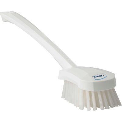 Vikan 41865 Long Handle Scrubbing Brush- Stiff, White