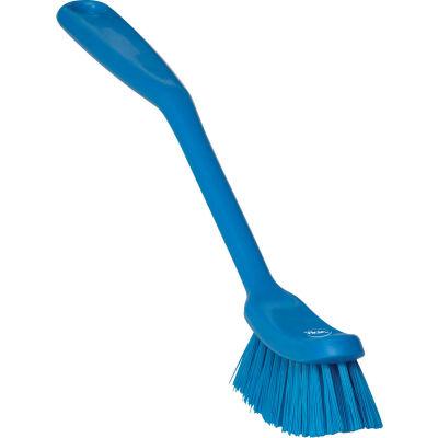 Vikan 42873 Narrow Dish Brush- Medium, Blue