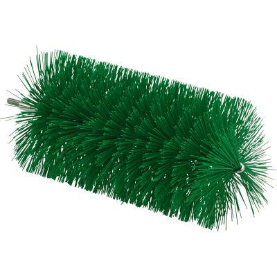 "Vikan 53912 3.5"" Pipe Brush for Flex Rod- Medium, Green"