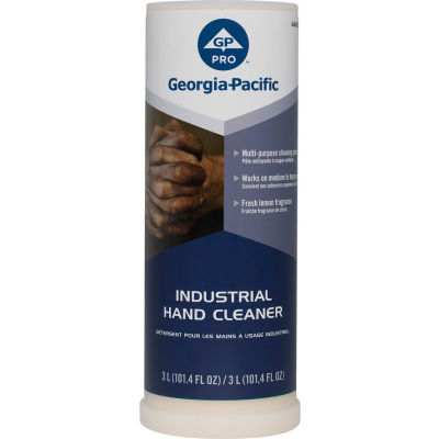 Georgia-Pacific Professional Series Lemon Fragrance 3L Industrial Hand Cleaner, 4/Case - 44626
