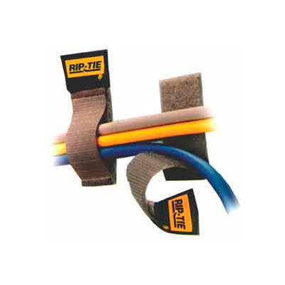 """Rip-Tie, 1"""" x 4"""" CableCatch, C-04-005-BN, Brown, 5 Pack"""