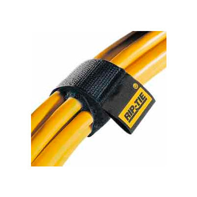 """Rip-Tie, 1"""" x 9"""" CableWrap, H-09-100-BK, Black, 100 Pack"""