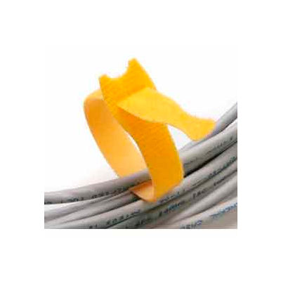 "Rip-Tie, 1/2"" x 5"" Lite, Y-05-025-Y, Yellow, 1 Roll of 25"
