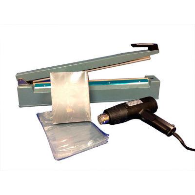 "Sealer Sales SWK-12-04VHS Shrink Wrapping Kit w/ 500 VHS Sized Shrink Bags, 12"" Sealer & Heat Gun"