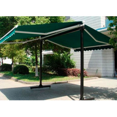Awntech RICH10-F, Retractable Awning Free Standing Manual 10'W x 16'D x 8'H Forest Green