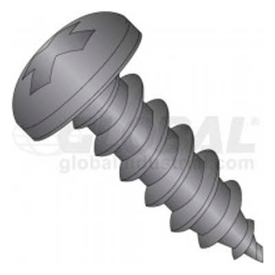 10 X 3/4 Phillips Pan Head Tapping Screw, Package Of 100