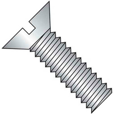 """10-24 X 3/8"""" Slotted Flat Head Machine Screw - 18-8 Stainless Pkg Of 50"""