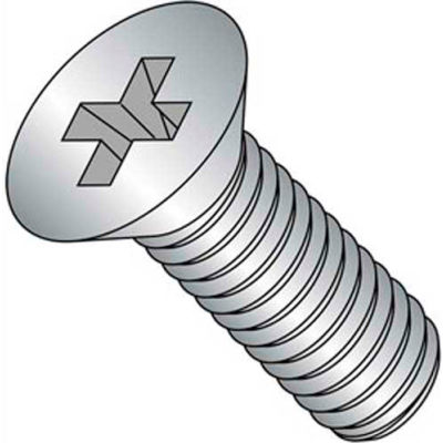 "4-40 X 1/2"" Phillips Flat Head Machine Screw - 18-8 Stainless Pkg Of 100"