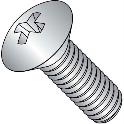 """4-40 X 3/8"""" Phillips Oval Head Machine Screw - 18-8 Stainless Pkg Of 100"""