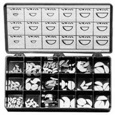 Woodruff Keys, Large Drawer Assortment, 20 Items, 270 Pieces