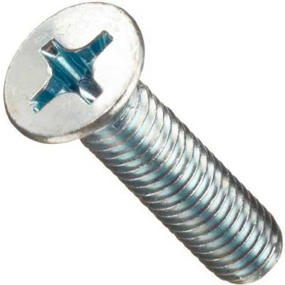 Slotted Flat Head Machine Screws W/Nuts, Zinc Plated Steel, Refill For FK51550