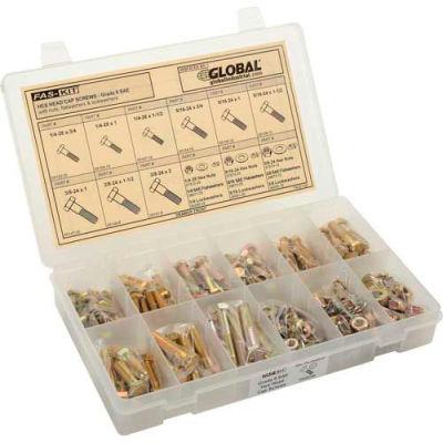 Socket Head Cap Screw Kit Refill - Black Alloy Steel - 6-32 to 3/8-16 - 24 Items, 750 Pieces