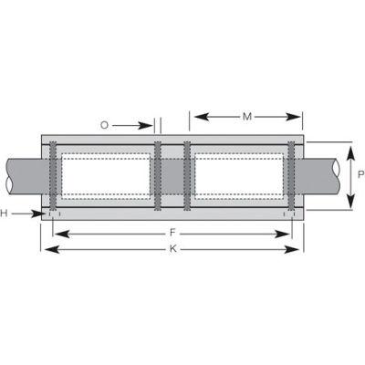 "IGUS RJUI-11-06 3/8"" DryLin R Bearing Block with Polymer Liner"