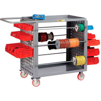 """Little Giant® Wire Reel Cart with Louvered Ends, 24""""W x 54.25""""L x 41.5""""H"""
