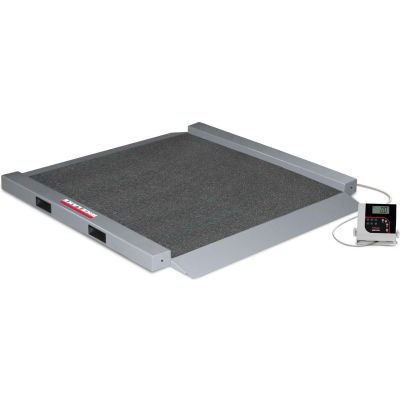 Rice Lake RL-360-6 Dual-Ramp Portable Bariatric Wheelchair Scale, 1000 lb x 0.2 lb