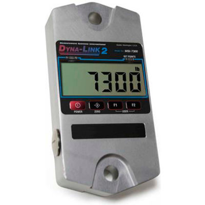 MSI MSI-7300-25000 Dyna-Link 2 Digital Crane Dynamometer, 25,000 lb x 10 lb