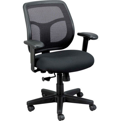 Eurotech Apollo Mesh Task Chair with Arms - Fabric - Black