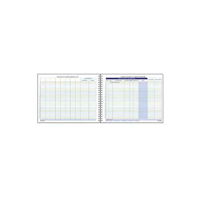 """Adams® Check Payment & Deposit Register, 8-1/2"""" x 11"""", White, 192 Sheets/Pad"""