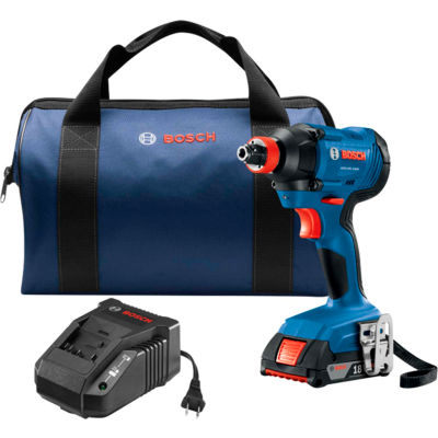 BOSCH GDX18V-1600B12 18V 1/4 In. & 1/2 In. Two-In-One Bit/Socket Impact Driver Kit