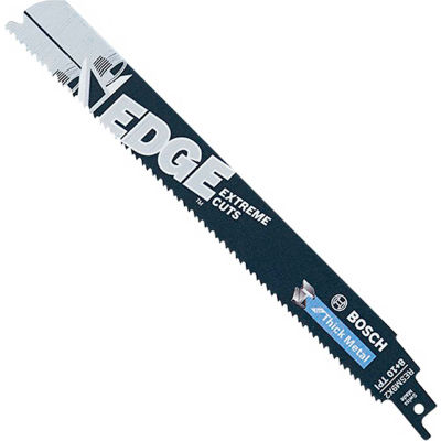 "BOSCH® 9"" Heavy Metal & Speed Reciprocating Saw Blade, RESM9X2, 8/10 TPI, 5-Piece - Pkg Qty 5"