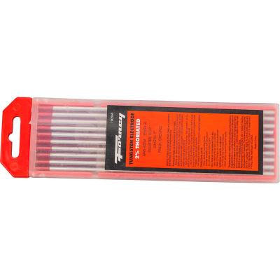 """Forney® Tungsten Electrode - 5/32"""" - 2% Thoriated Tungsten - 10/Pack"""