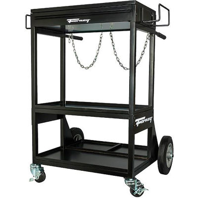 Forney® Dual Cylinder Welding Cart 3 Level, Drawer, 1-2 Cylinders